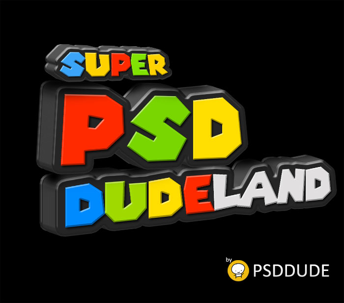 3D Super Mario Plastic Text in Photoshop - Photoshop tutorial | PSDDude