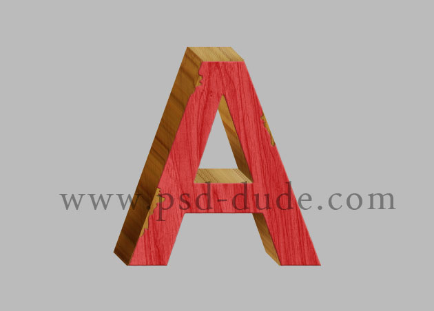 3D Wood Photoshop Text Effect - Photoshop tutorial PSDDude