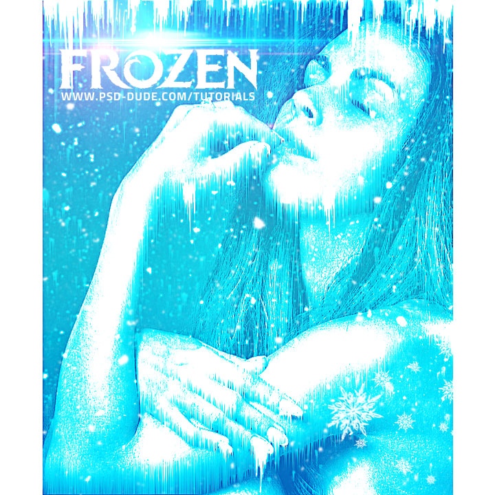 frozen ice photo effect photoshop tutorial