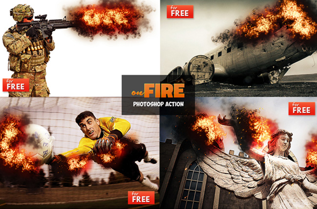 fire effect photoshop action download