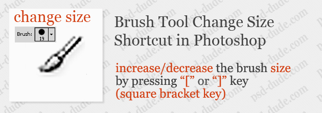 how to change brush size in photoshop