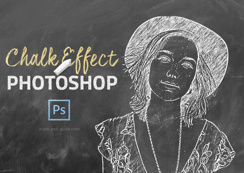 Chalk Effect Photoshop - Photoshop tutorial | PSDDude