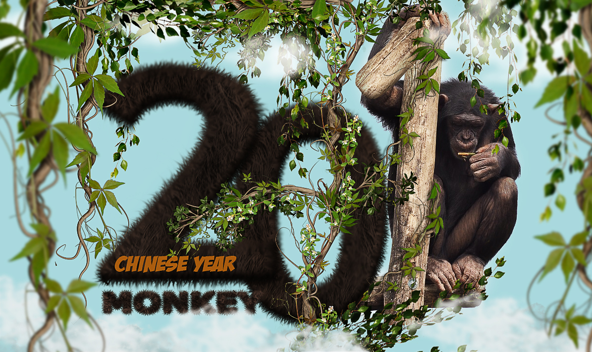 Chinese monkey year text effect in photoshop photoshop tutorial chinese monkey year text effect in photoshop photoshop tutorial psddude baditri Gallery
