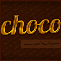 Chocolate Text Effect Tutorial