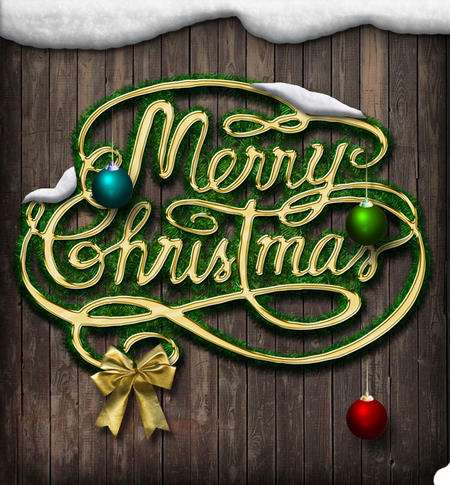 Christmas and New Year Greeting Card Photoshop Tutorial ...