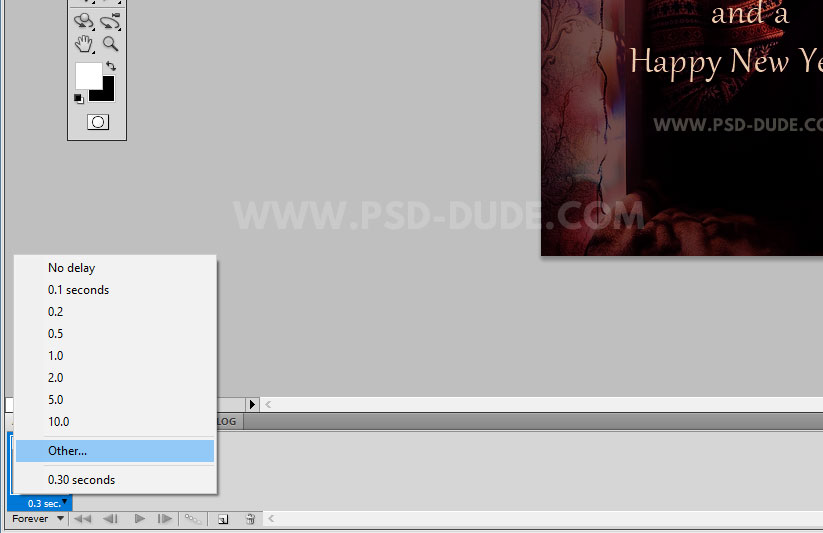 Animation speed photoshop