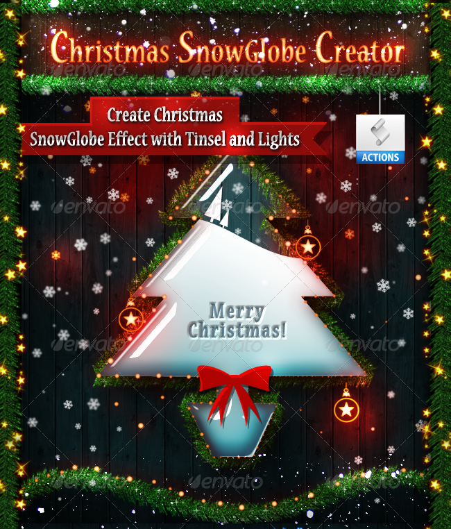 Christmas Snow And Glass Text Effect Photoshop Tutorial