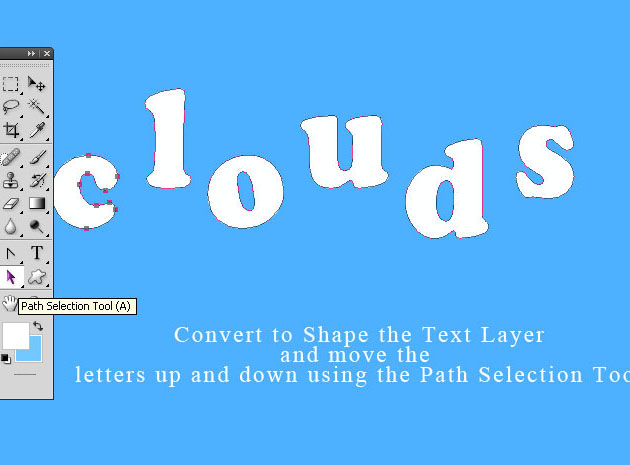Cloud Text To Vector Shape