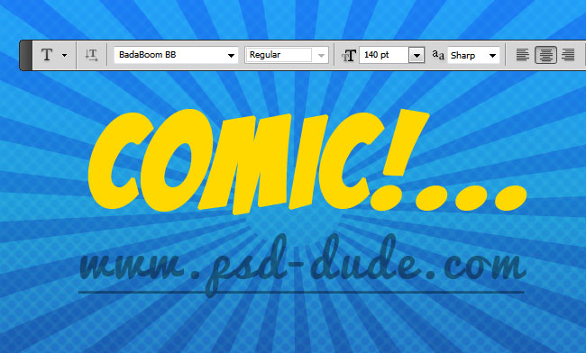 Comics Text Photoshop Tutorial