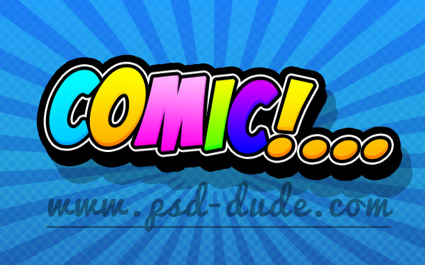 Comics Text Photoshop Tutorial - Photoshop tutorial | PSDDude