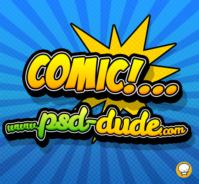 Comic Book Cover Tutorial Photo : Comics text photoshop tutorial psddude