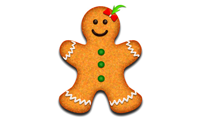 Create Gingerbread Christmas Cookie Vector Girl