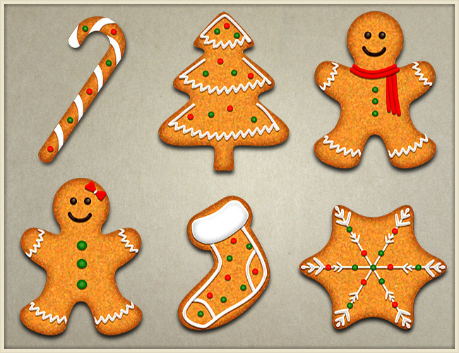 Make Gorgeous And Yummy Christmas Vector Cookies In Photoshop