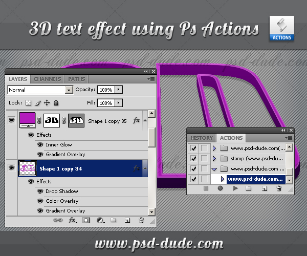 how to connect 3d layers photoshop
