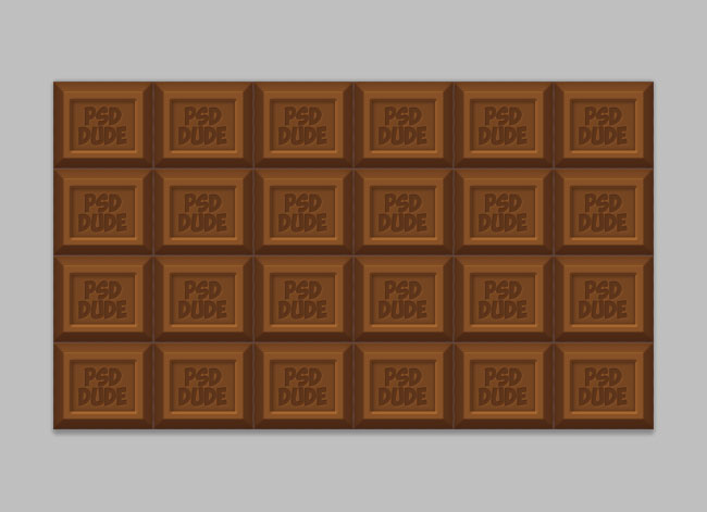 milk chocolate tablet in photoshop