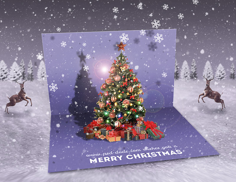 first you have to download this free greeting card psd template i will use the open greeting card template for this tutorial so download the zip file and - Photoshop Christmas Card Templates