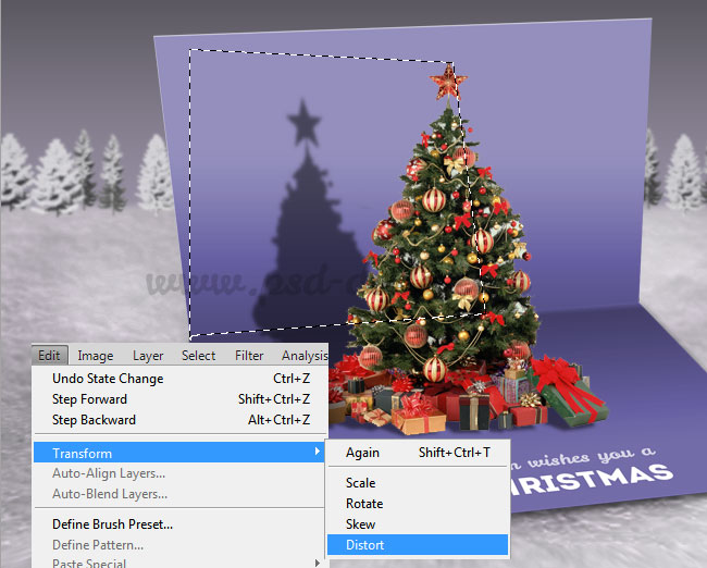 Create a christmas pop up greeting card in photoshop photoshop how to create falling snow effect in photoshop m4hsunfo