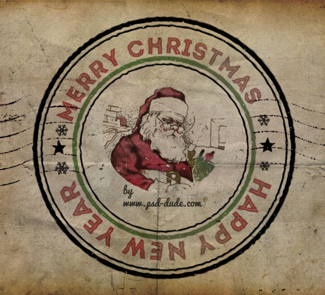 Create A Christmas Rubber Stamp In Photoshop Photoshop Tutorial