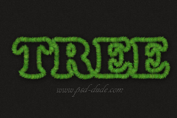 Simple Christmas Tree Font Text Effect