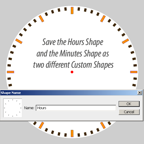 Create A Clock Custom Shape In Photoshop Photoshop