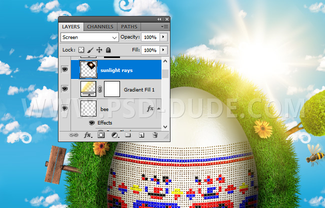 Create a Cute Easter Grass Planet in Photoshop - Photoshop tutorial