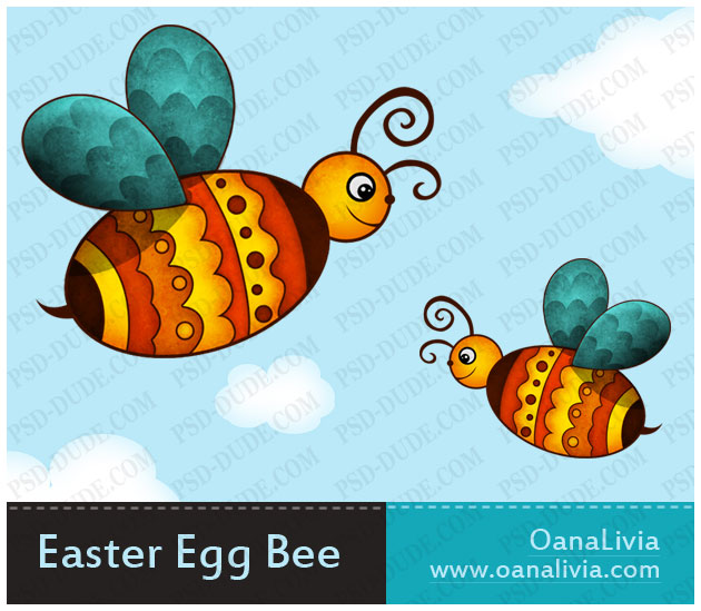 Create A Cute Photoshop Easter Egg Bee