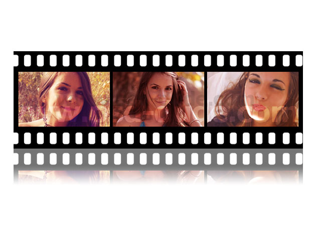how to create a film strip image in powerpoint