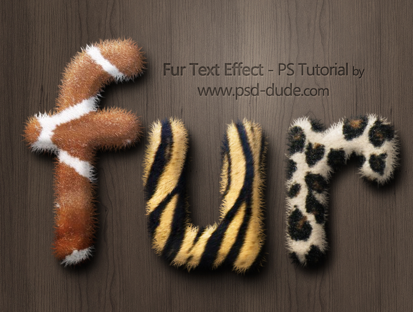 Create a Fur Text Style in Photoshop - Photoshop tutorial