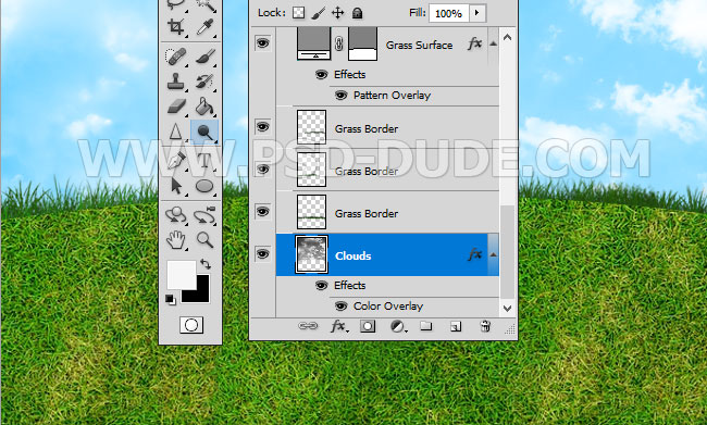 seamless transparent grass border in photoshop
