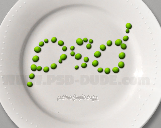 green peas effect in photoshop