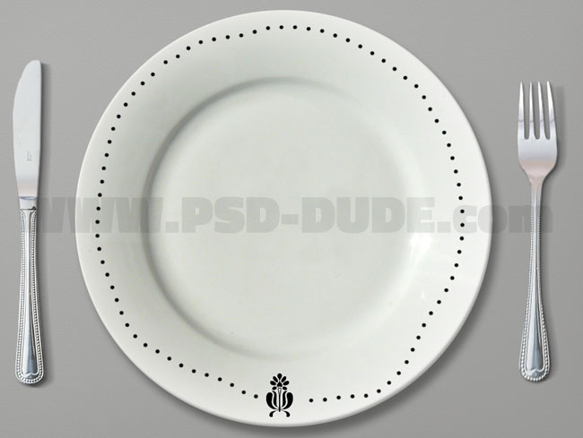 decorate plate in photoshop