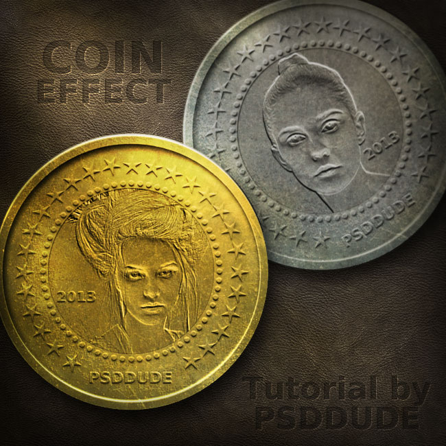 Create a Metal Coin in Photoshop - Photoshop tutorial | PSDDude