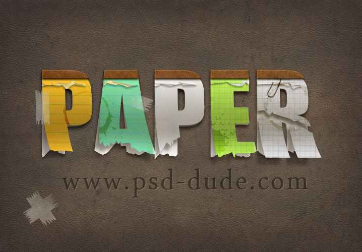 Create a paper text in photoshop photoshop tutorial psddude ccuart Image collections