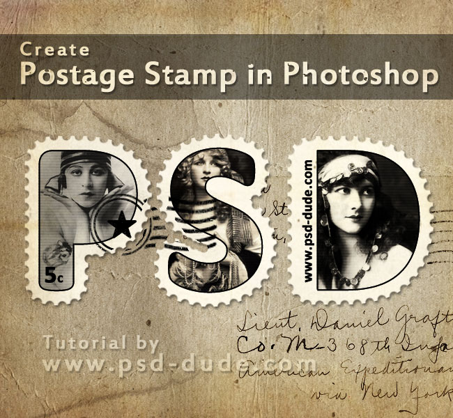 Create A Postage Stamp Text In Photoshop Photoshop Tutorial Psddude