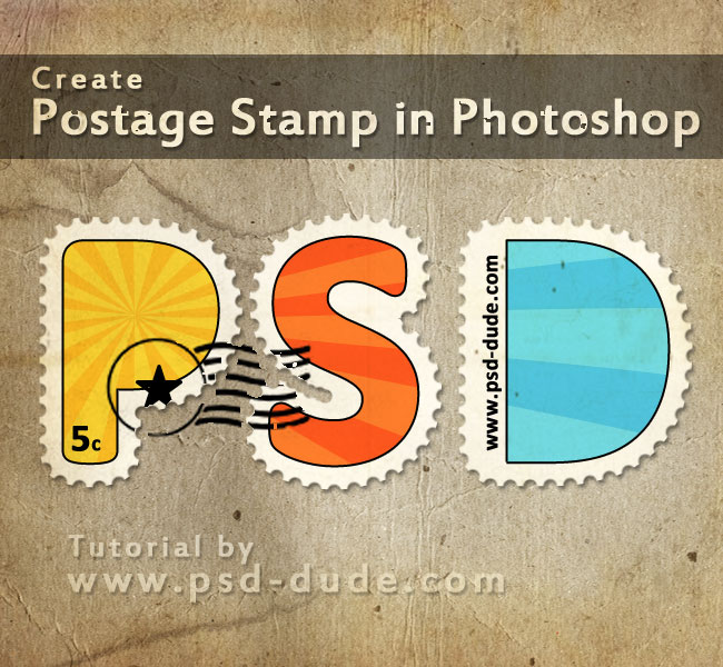Create a Postage Stamp Text in Photoshop - Photoshop