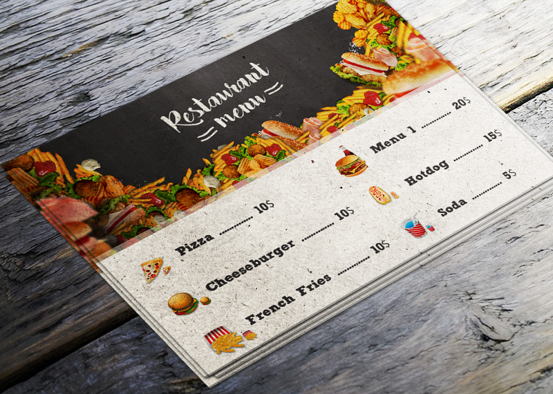 food menu flyer photoshop tutorial