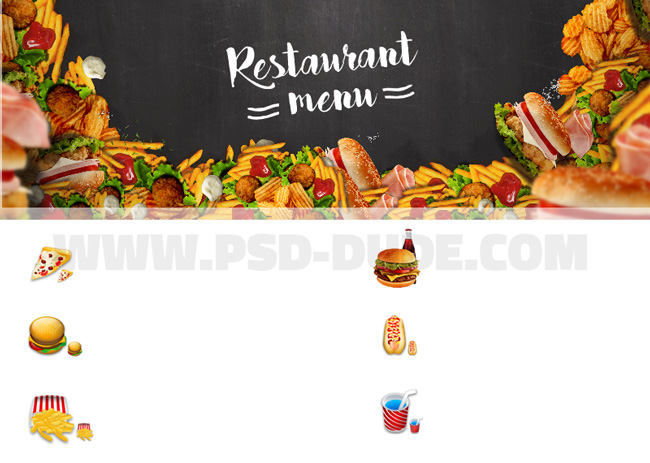 Photoshop food restaurant icons