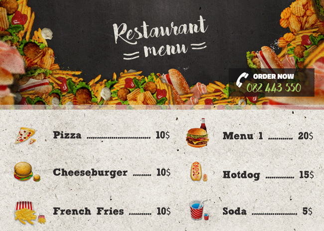 how to make a restaurant menu flyer in photoshop photoshop