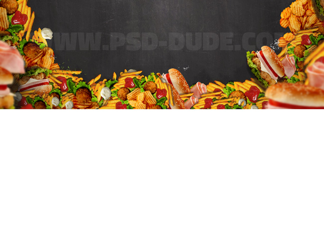 fast food restaurant header background