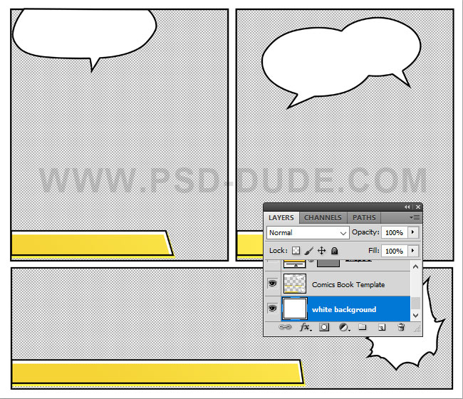 comic book template photoshop