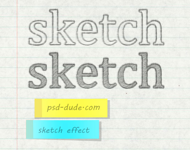 Create a Pencil Sketch Text Effect in Photoshop