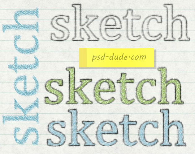 Create a Colored Pencil Sketch Text Effect in Photoshop