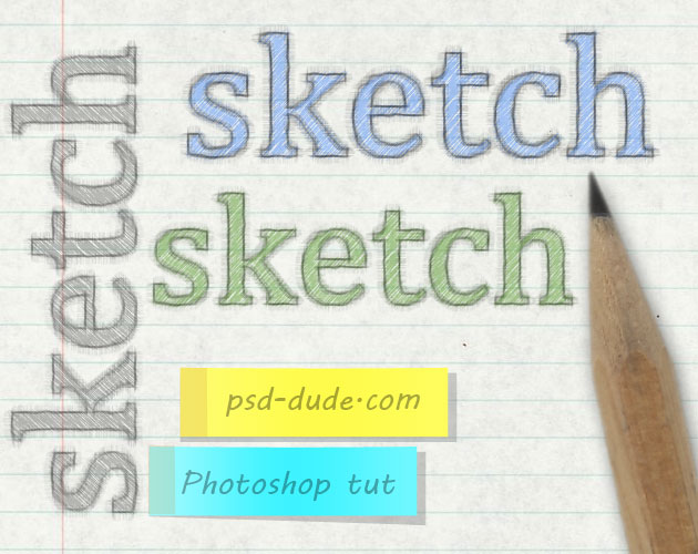 Pencil Sketch Text Effect Photoshop Tutorial