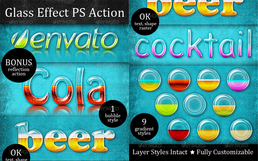 Drinks Text Style Photoshop Action