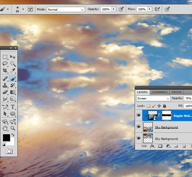 hide image with layer mask in Photoshop