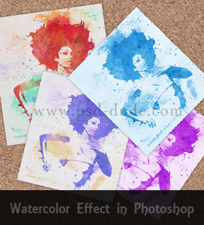 Create a Watercolor Effect in Photoshop - Photoshop tutorial