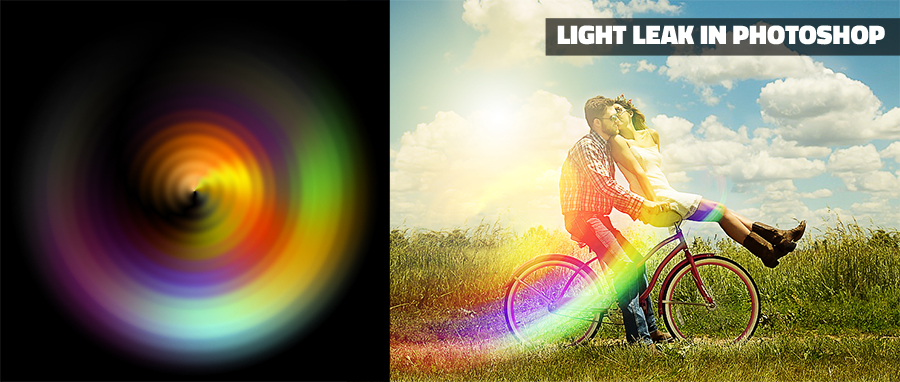 light leak effect in Photoshop