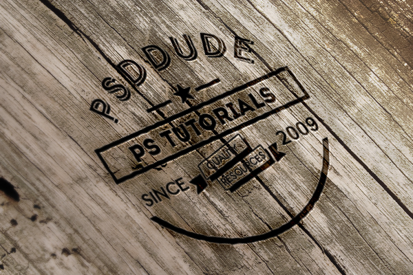 Engraved Wood Photoshop Tutorial
