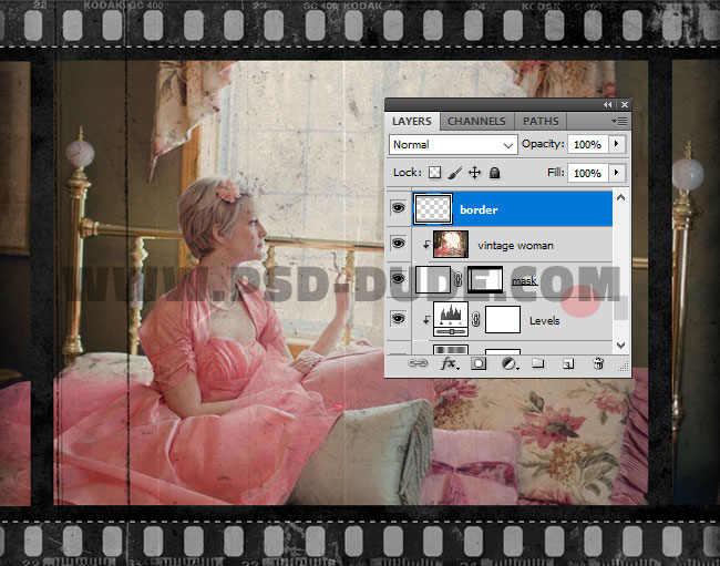 Create An Old Film Effect With Filmstrip Border In Photoshop