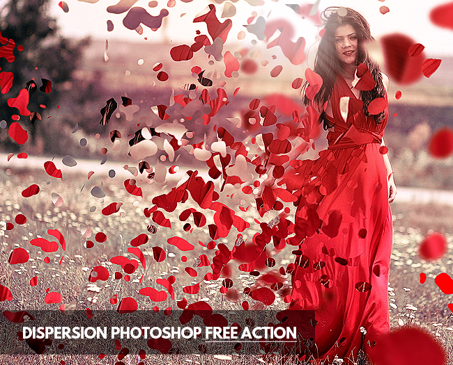 dispersion effect in photoshop with free action